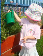 Llittle Harriers - Pre-school garden